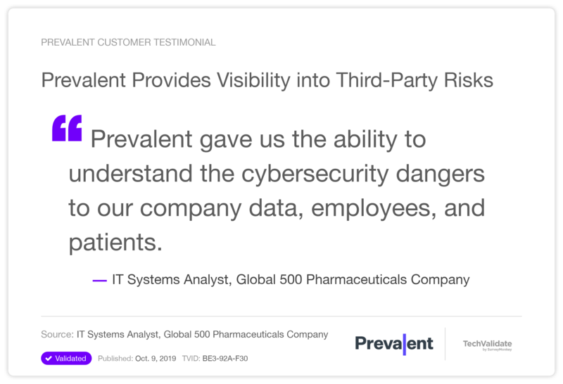 Prevalent Provides Visibility into Third-Party Risks
